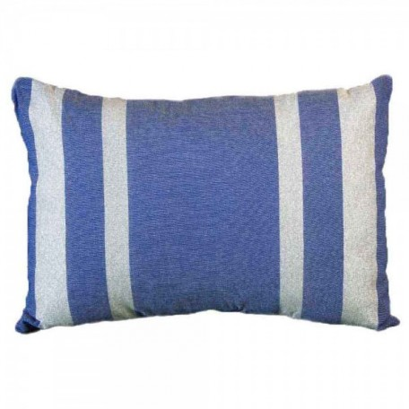 Housse de coussin rectangulaire fond bleu roi avec rayures en fil lurex argent - IS3