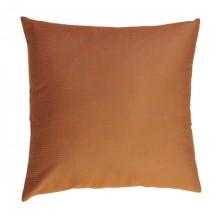 Taie d'oreiller carrée 60 x 60cm avec des rayures oranges et vert amande en coton - T4