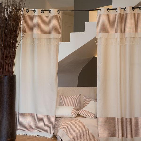 rideau pr t poser et modulable en coton et lurex b2. Black Bedroom Furniture Sets. Home Design Ideas