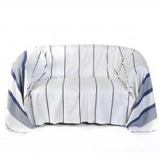 housse de coussin 40x40cm fond blanc avec 3 rayures bleues r f rence cb1. Black Bedroom Furniture Sets. Home Design Ideas