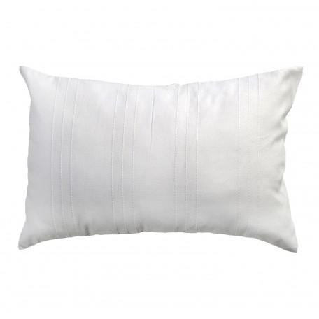 Coussin rectangulaire, unis blanc avec reliefs discrets 35x50cm, F2