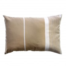 Coussin rectangulaire 35x50cm, fond lin avec rayures blanches CB3